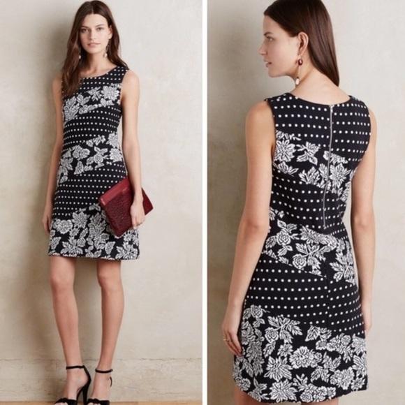 Anthropologie Dresses & Skirts - Polka dot and floral pattern dress